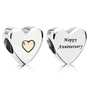 Authentic PANDORA Happy Anniversary 14K Gold Charm